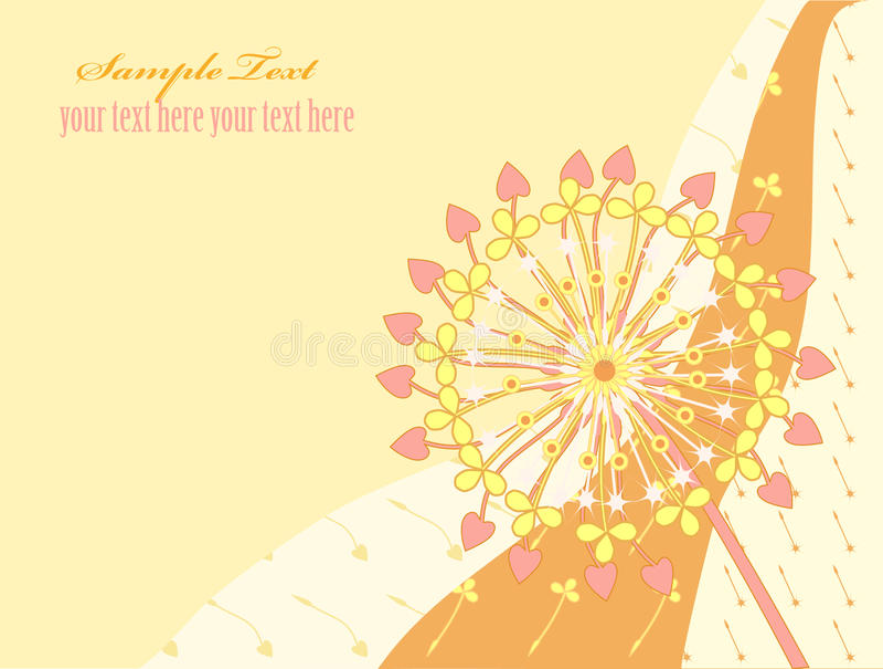 Download Dandelion 3 stock vector. Illustration of pastel, flower - 14446676