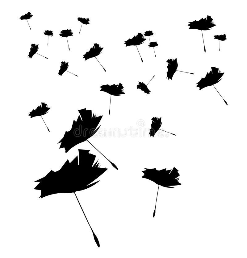 Dandelion blown away vector illustration