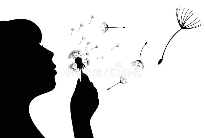 Download Dandelion flower and girl stock vector. Illustration of floral - 25164672