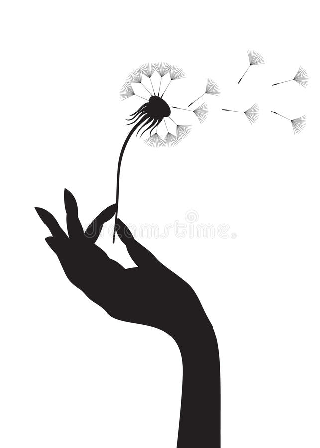 Dandelion In A Hand Royalty Free Stock Photography