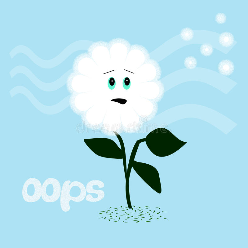 Download Dandelion oops stock illustration. Illustration of oops - 17211485