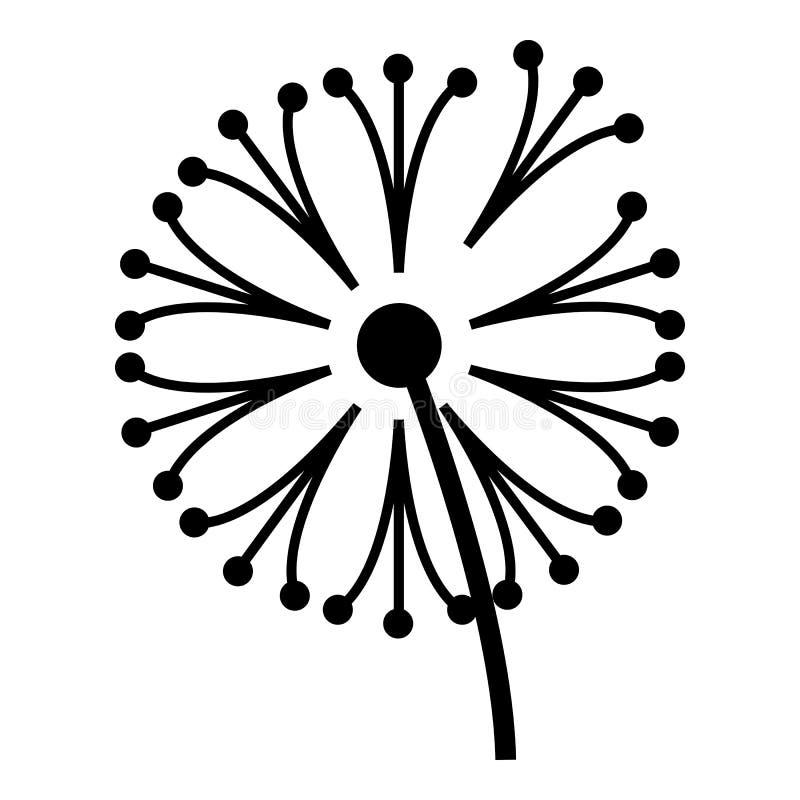 Dandelion rośliny ikona, prosty styl ilustracji