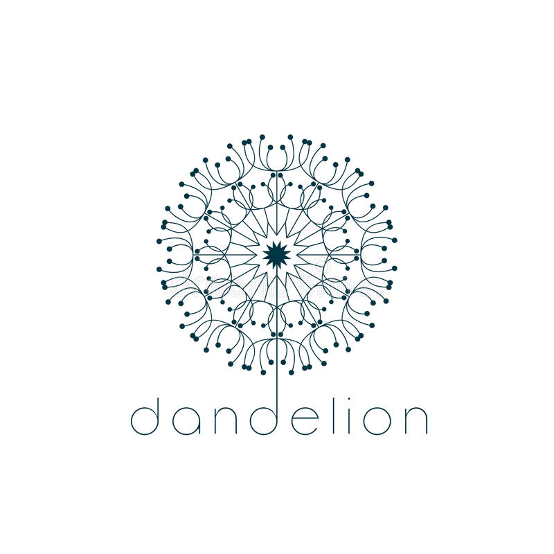 Dandelion symbol royalty free illustration