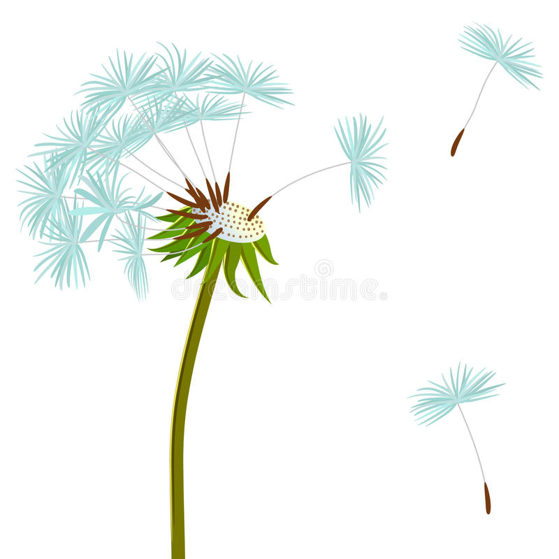Dandelion on the wind stock illustration