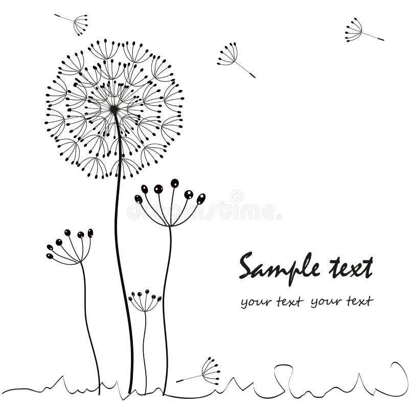 Dandelions floral greeting card vector vector illustration