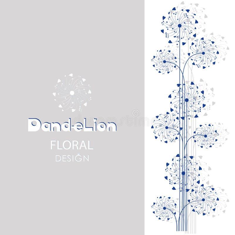 dandelions Fundo musical ilustração stock