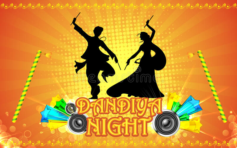 Dandiya Night stock vector Illustration of design instrument