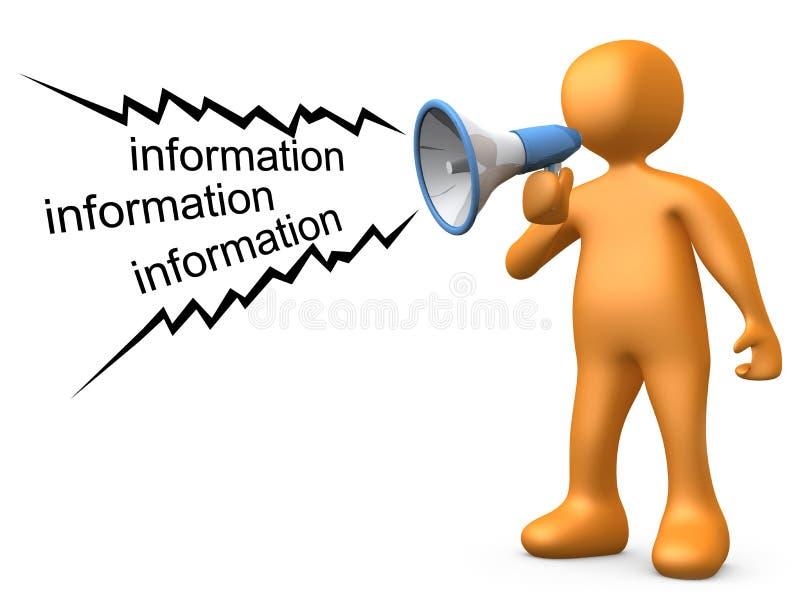 Dando a informação ilustração stock