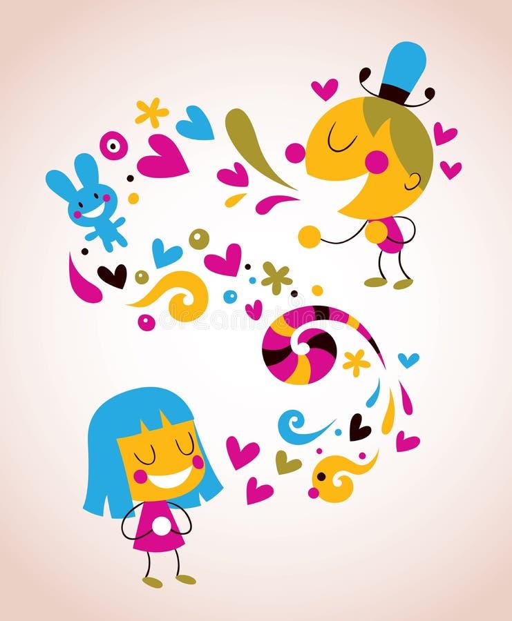 Dando o amor ilustração do vetor