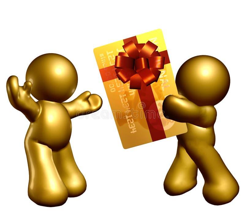 Dando o cartão de crédito como o presente ilustração royalty free