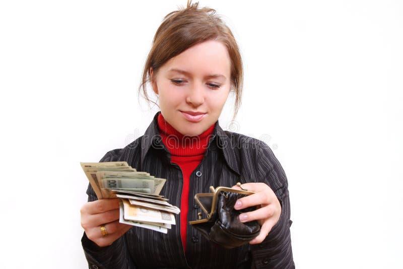 Dando o dinheiro fotos de stock