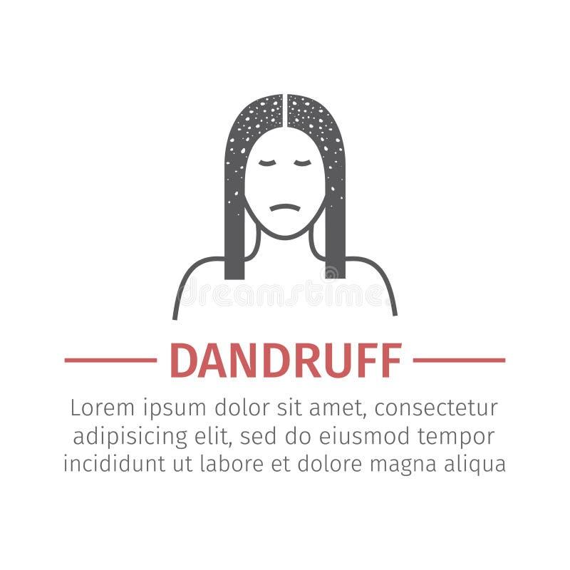dandruff przygotowywa ikonę ilustracja wektor