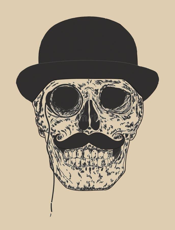 Free Dandy Skull Royalty Free Stock Image - 86085426