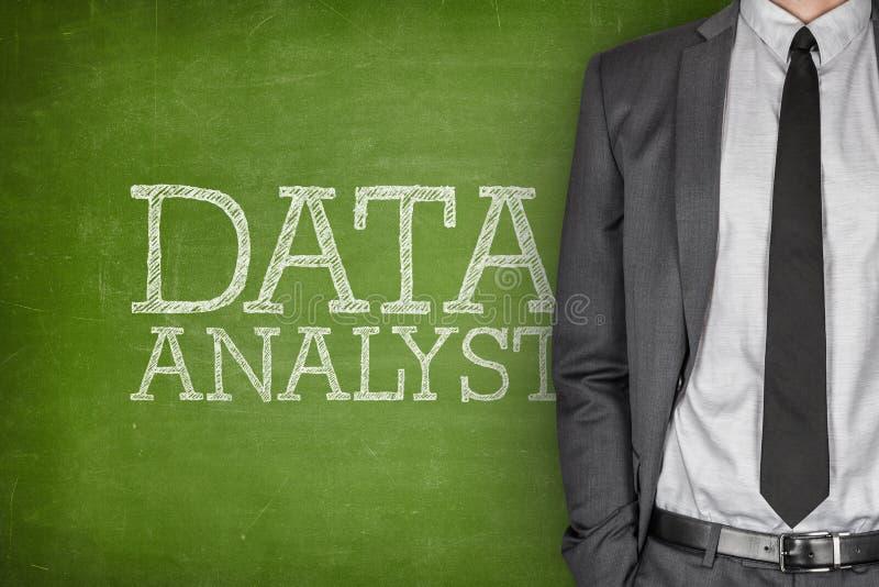 Dane analityk na blackboard zdjęcia stock