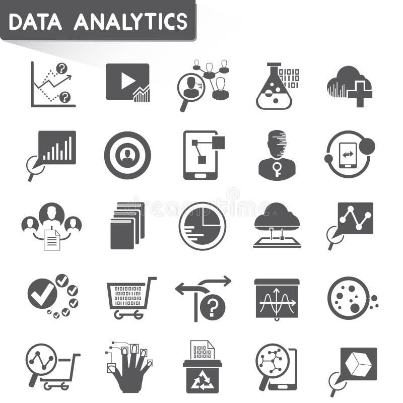 Dane analityka ikony ilustracji