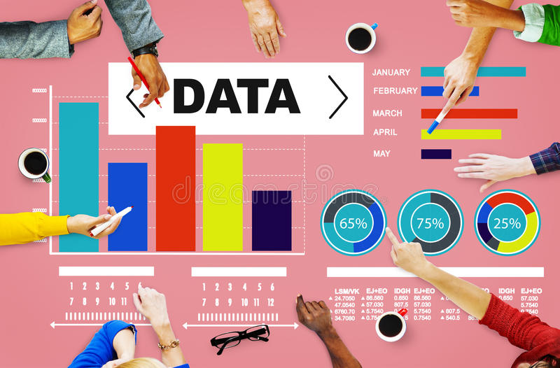 Dane analityka mapy występu wzoru statystyki Ewidencyjne zdjęcie royalty free