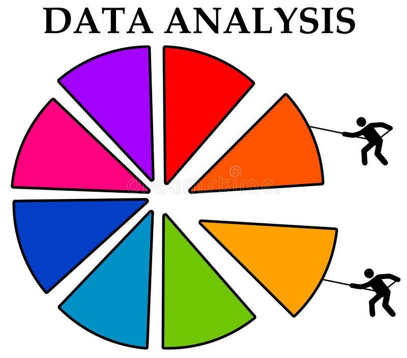 Dane analiza royalty ilustracja