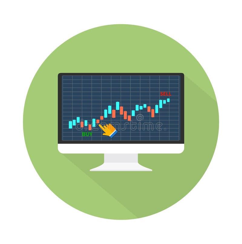 Dane analizuje w rynku walutowego rynku ilustracji