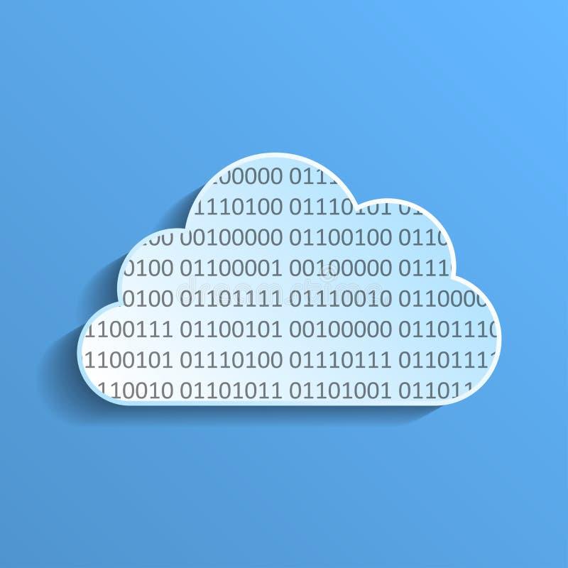 Dane chmura ilustracji