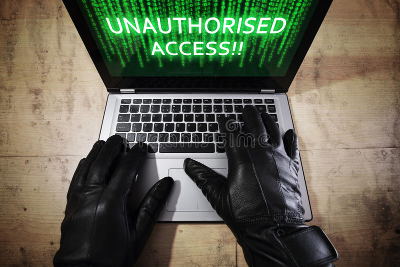 dane hackera laptopu target1493_0_ obrazy royalty free