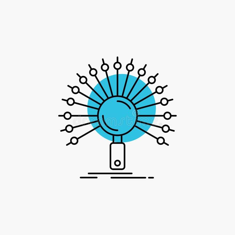 Dane, informacja, informational, sieć, odratowanie Kreskowa ikona ilustracji