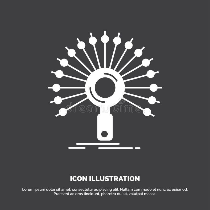 Dane, informacja, informational, sie?, odratowanie ikona glifu wektorowy symbol dla UI, UX, strona internetowa i wisz?cej ozdoby  ilustracja wektor