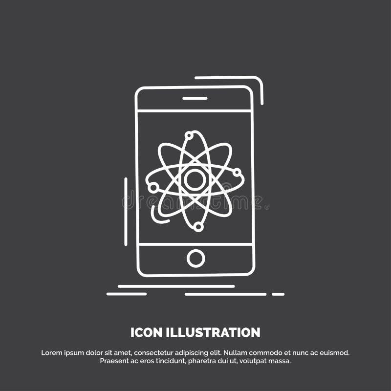 dane, informacja, wisz?ca ozdoba, badanie, nauki ikona Kreskowy wektorowy symbol dla UI, UX, strona internetowa i wisz?cej ozdoby royalty ilustracja