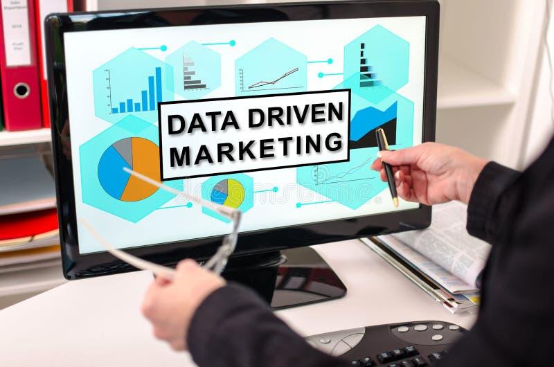 Dane jadący marketingowy pojęcie na komputerowym monitorze zdjęcia royalty free