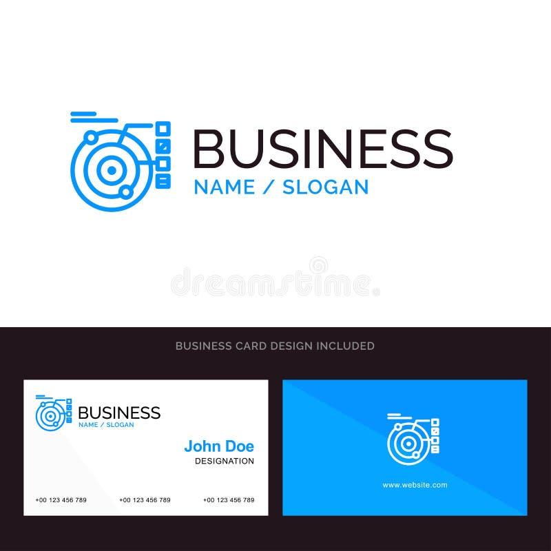 Dane, model, orbita, Błękitny Biznesowy logo i wizytówka szablon, Planetarny, Słoneczny, Przodu i plecy projekt ilustracji