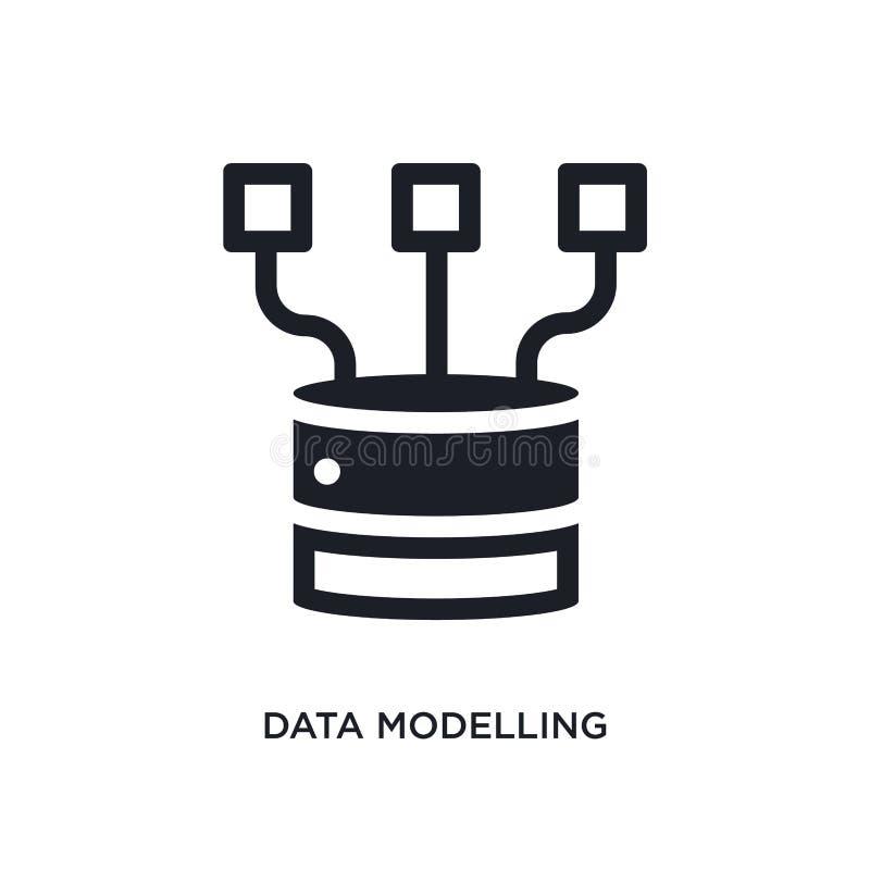 dane modelacji odosobniona ikona prosta element ilustracja od technologii pojęcia ikon dane modeluje editable logo znaka symbol royalty ilustracja