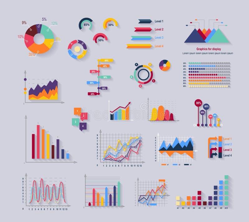 Dane narzędzia Finansowy Diagramm i grafika ilustracji