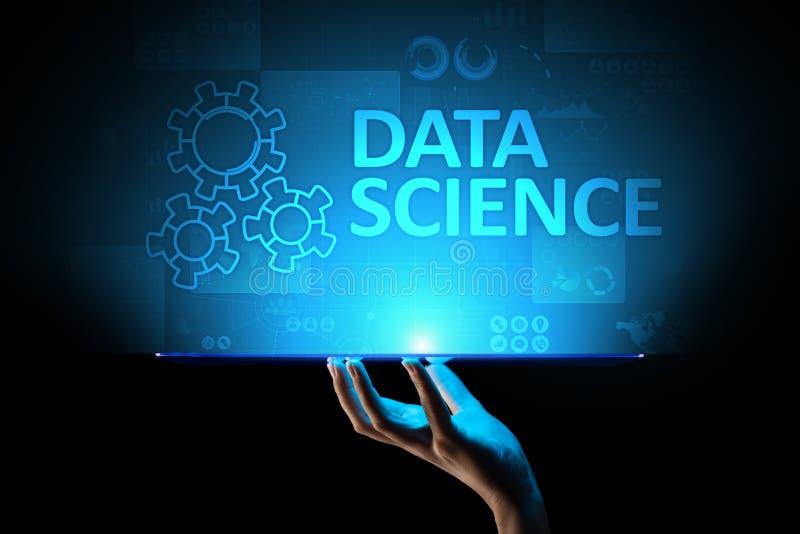 Dane nauka i głęboki uczenie Sztuczna inteligencja, analiza Internetowy i nowożytny technologii pojęcie ilustracji