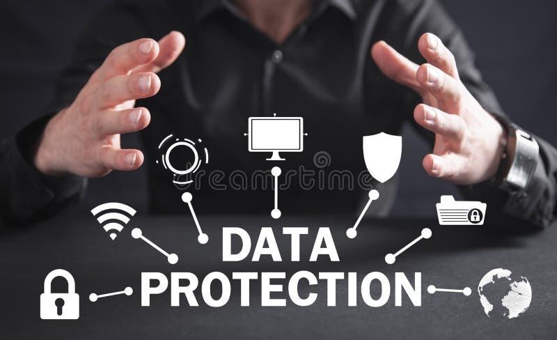 Dane ochrona Poj?cie internet i technologia Ochrona fotografia royalty free