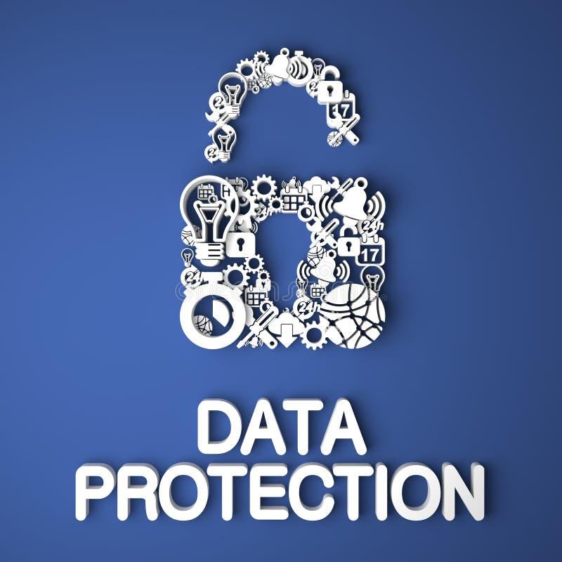 Dane ochrony pojęcie. ilustracji