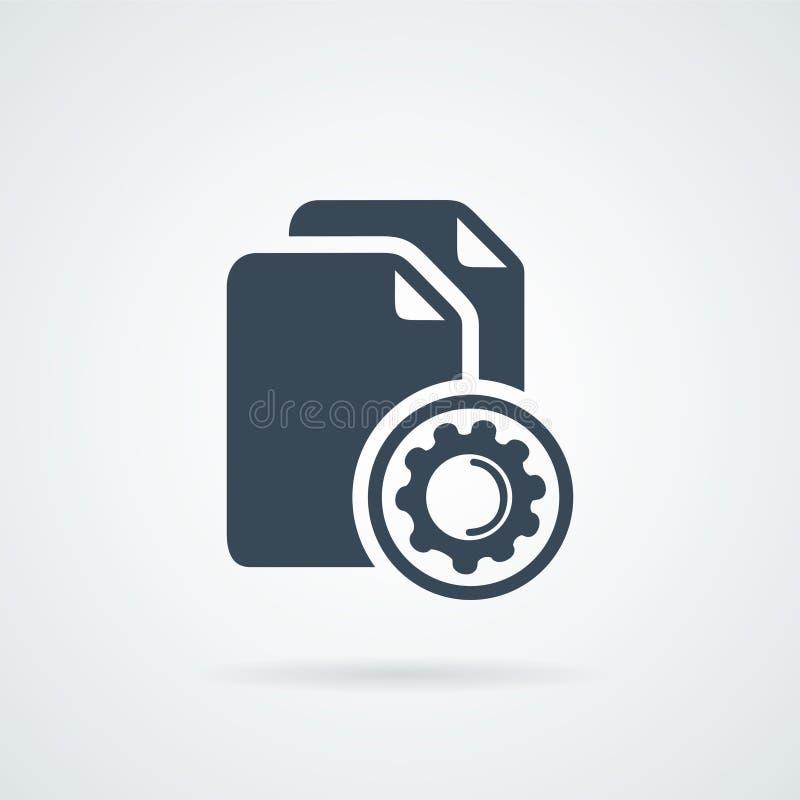 Dane proces w toku Pojęcie duzi dane obraz royalty free