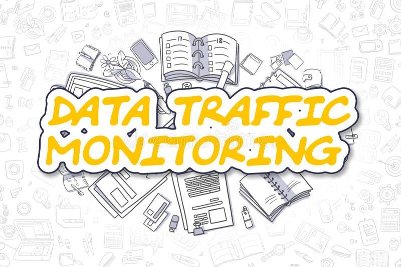 Dane ruchu drogowego monitorowanie - Biznesowy pojęcie ilustracja wektor