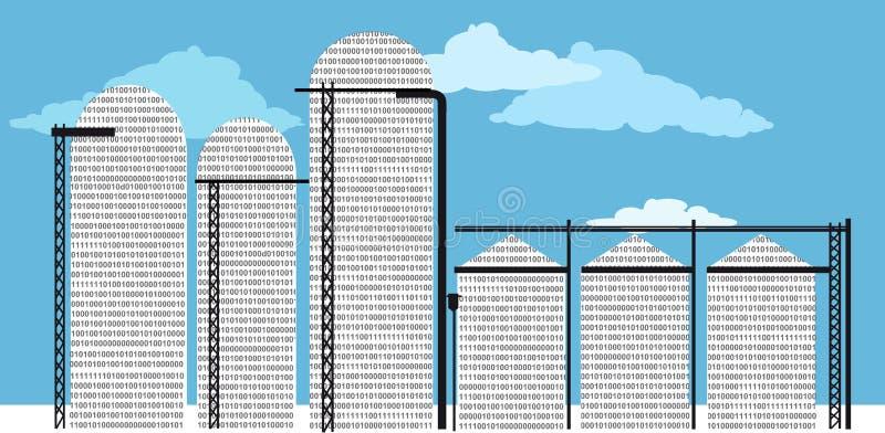 Dane silos ilustracja wektor