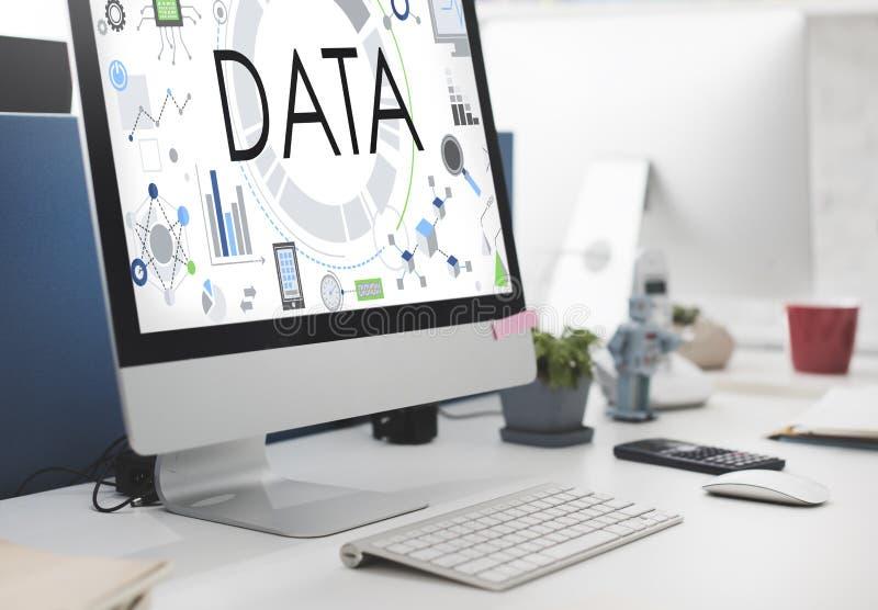 Dane technologie informacyjne Podłączeniowy Futurystyczny pojęcie zdjęcia stock