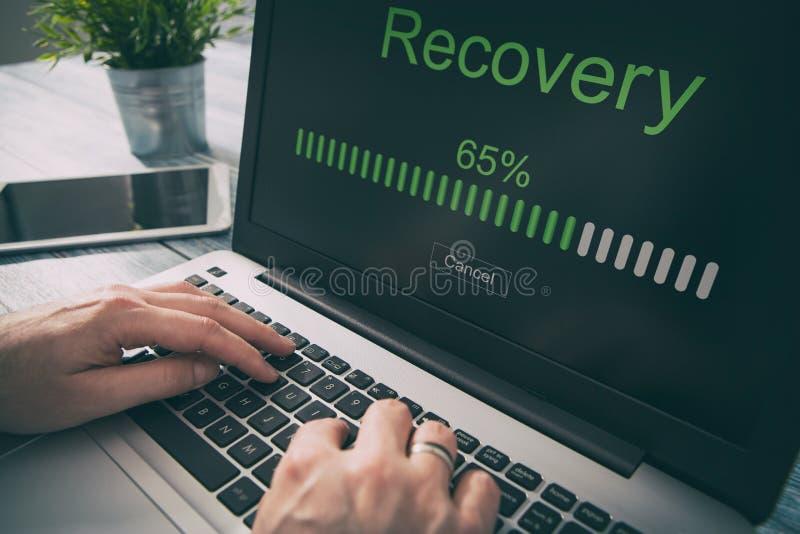 Dane wsparcia przywrócenia wyzdrowienia przywrócić wyszukuje plan sieć obrazy stock