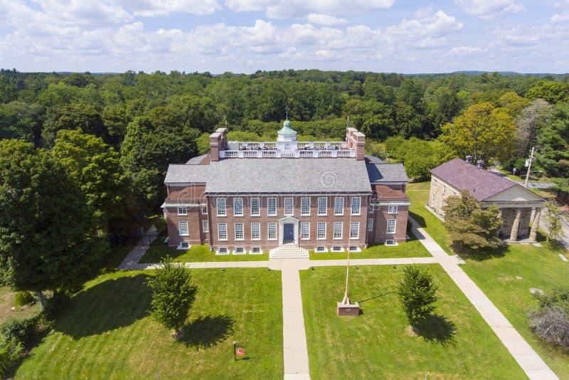 Framingham State University, Massachusetts, USA. Danforth Art School in Framingham State University on Framingham Centre Common Historic District in Framingham stock photos