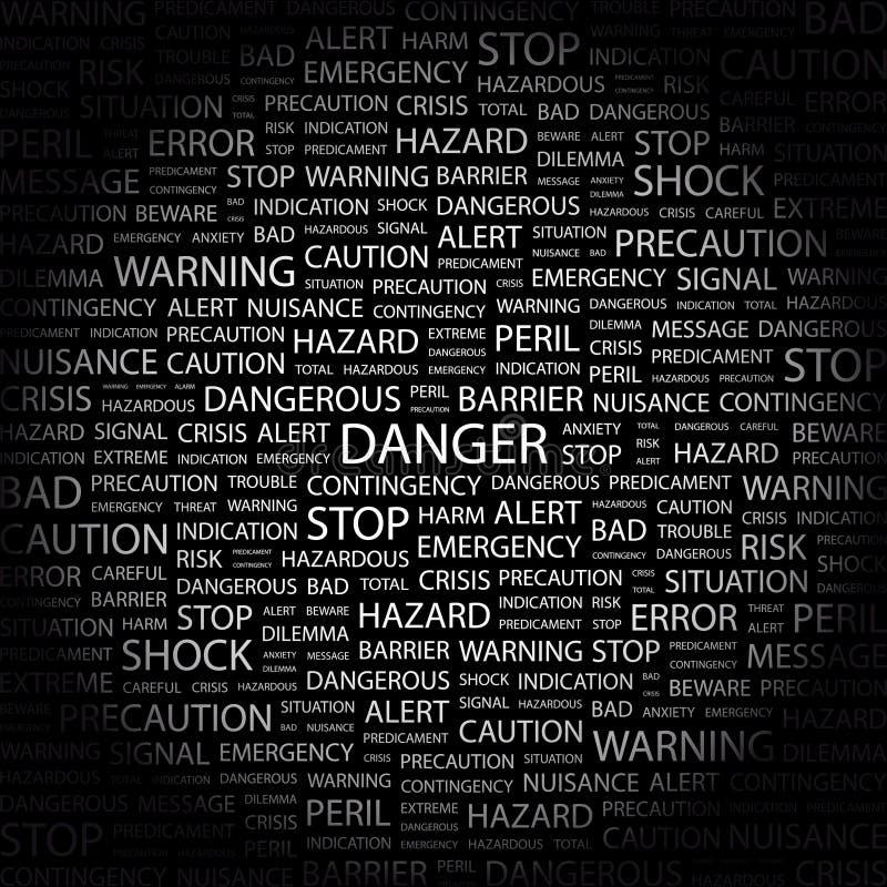 DANGER. illustration de vecteur