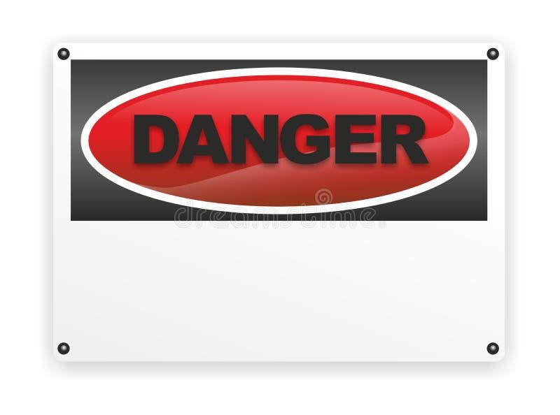 Danger. Abstract illustration of a sign indicating danger vector illustration