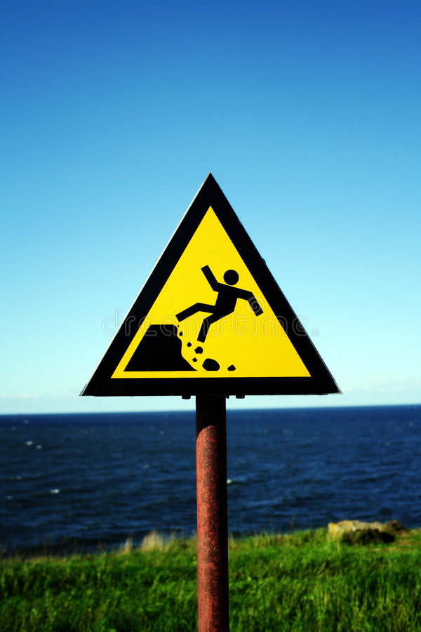 Danger ahead stock photos