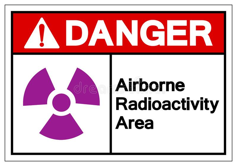 Danger Airborne Radioactivity Area Symbol Sign, Vector Illustration, Isolate On White Background Label. EPS10 stock illustration