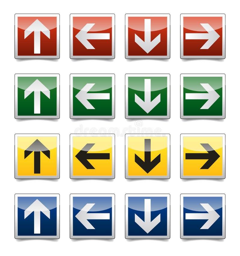 Danger arrow sign set vector illustration