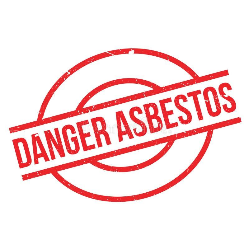 Danger Asbestos rubber stamp royalty free illustration