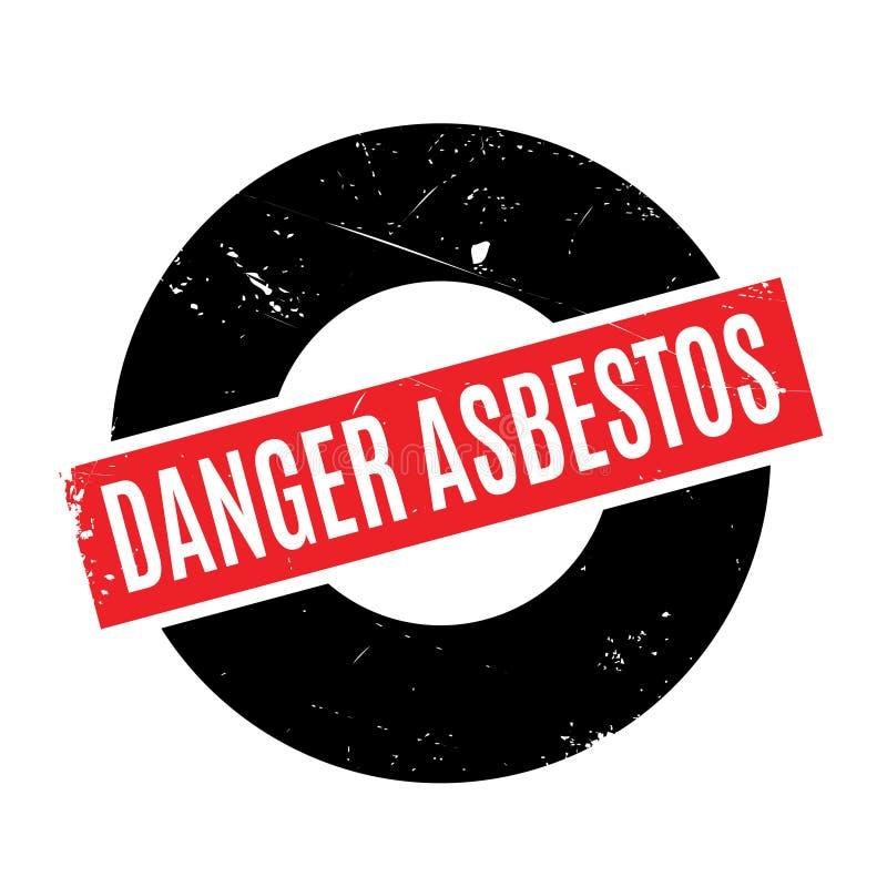 Danger Asbestos rubber stamp stock illustration