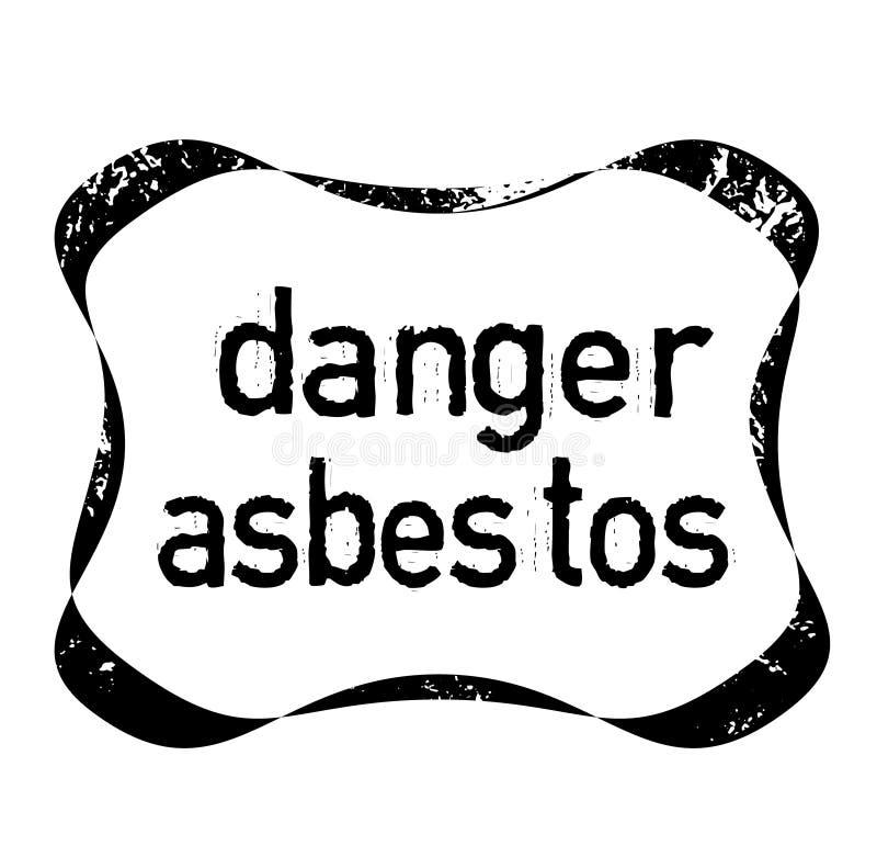 DANGER ASBESTOS stamp on white background vector illustration