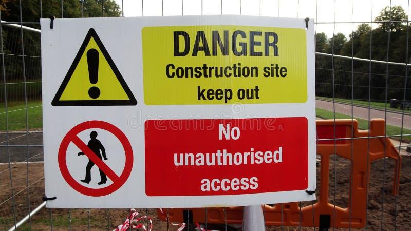 Danger, aucun Access images stock