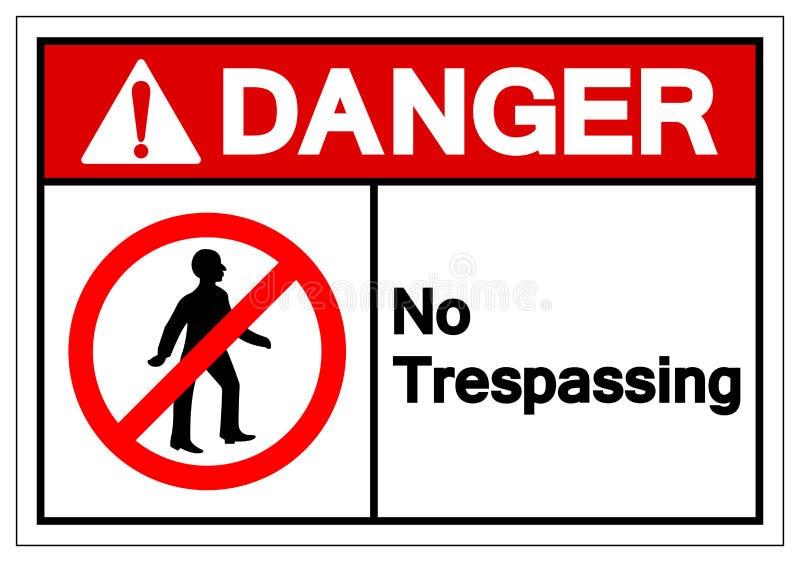 Danger aucun signe de infraction de symbole, illustration de vecteur, isolat sur le label blanc de fond EPS10 illustration libre de droits